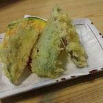 富蔵家 - 三色セット 天ぷらアップ
