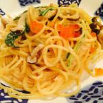 ピエトロ・バルコーネ - 水菜とキノコとタラコのクリームソース 1080円