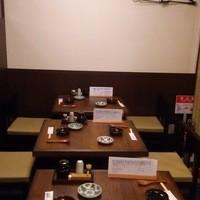 カウンター5席・テーブル席8名様まで、座敷2名様から15名様まで
