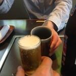 味喰笑 - H.27.5.17.昼 ビールvsお茶で乾杯♪