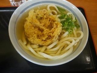 かのや 新宿東南口店 - かき揚げうどん(\430)