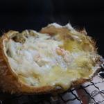 銀座 蟹みつ - 活毛蟹甲羅焼