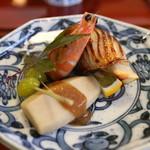 44239926 - シズ鯛とエリンギの柚庵巻き