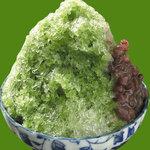 弁天茶屋 - 宇治みつたっぷりで風味満点。金時は自家製。650円