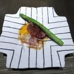 喰心-meat Dining- - 黒毛和牛の焼きユッケ