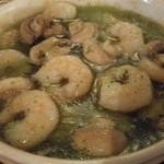 44245683 - 小海老とマッシュルームのオリーブオイル煮~シェリーとバジルガーリック風味~