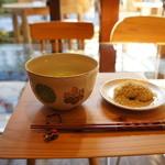 富士屋 花筏 - お抹茶と栗粉もちのセット