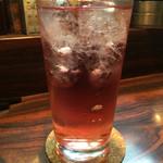 老緑酒蔵 - 201511 ぶどう酢サワー(450円)。酸っぱくて疲れた金曜夜にぴったり