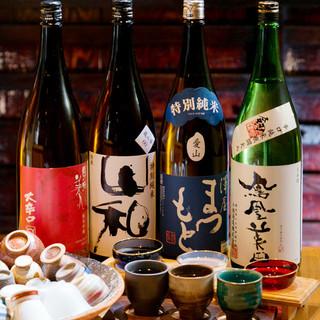 豊富に揃えた日本酒
