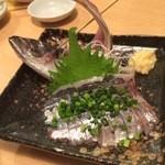 居酒屋 あゆみ - 本日の鮮魚はアジ