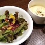 THREE JOY NAPOLI - セットサラダ、スープ