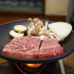 郷土料理 みかど - 飛騨牛A5ステーキ(2015.11.6)