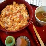 南ばら亭 - 阿波尾鶏の親子丼1500円
