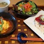 マキバ スタイル - マキバサラダと日替わりスープのプチ丼2膳セット