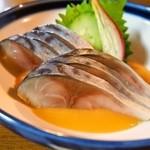串かつ 千里 - 〆さば酢味噌