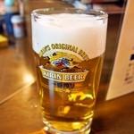 串かつ 千里 - 生ビール