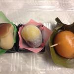 宝来堂 - 松茸餅、栗餅、柿の葉餅