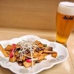 ラーメン信月 - おつまみメンマ & ビール
