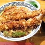 44267787 - 天丼(大海老2本、いか、野菜)1,300円(税込)