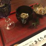 あらたや - 料理写真:前菜3種(おひたし、湯葉山葵、しらすおろし)