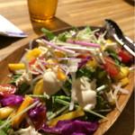 44268601 - 柿と大根のサラダ。色鮮やか☆