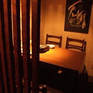 隠れ家的 個室・半個室充実しております!