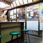 三品食堂 - 五郎丸も座った?昭和の丸椅子