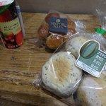 自然食品の店 F&F - カムカムマンゴードリンク、ノンオイルチアシードパン、ふんわりくるみパン