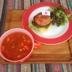 リーフ  バーガー - スープセット