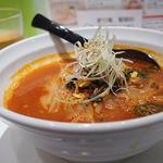 パンチャンとジョン - ユッケジャン麺(750円)