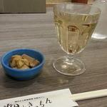 畑deきっちん - 白ワインボルドーのグラス通常400円が200円