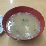 ことぶき食堂 - 味噌汁