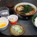 44282570 - Aセット そば + 納豆ごはん 430縁