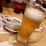 回転寿司がんこ - 生ビール