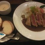 昔洋食 みつけ亭 - 牛フィレ肉のビーフカツレツのセット