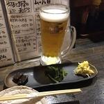 魚貝三昧 雛 1号店 - ビールで乾杯♪(〃゜▽゜)ノ□☆□ヽ(゜▽゜*)♪