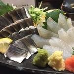 魚貝三昧 雛 1号店 - とっても美しい小肌!と、白身魚はソゲ?