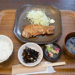 鎌あいな - 豚ロースステーキ定食