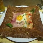 ロクシタンカフェ - ハム&サーモンガレット