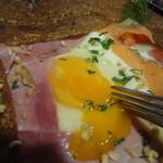 ロクシタンカフェ - 半熟卵を崩すのが、快感 ^-^