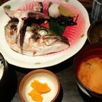 芳志 - イナダかぶとの塩焼き定食 720円