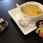 ビーグル カフェ - ランチセットのコンソメスープ
