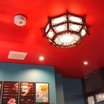china cafe - 照明もチャイナ風