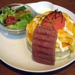 mog - 和風明太子とふわとろオムレツのパンケーキ(\1,200)