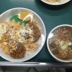 みどりや - 料理写真:ヒレカツ丼 大盛、モツ煮