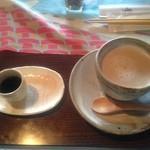 カフェ月星 - 2015/11/8 新メニュー ほうじ茶ラテ