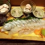 日韓食堂 菜'S - 別注天然 ひらめお作り