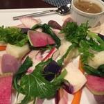オステリアセノーテ - 料理写真:有機野菜のバーニャカウダ