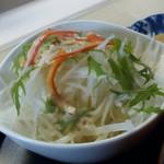 ごはん処 茶茶 - サラダ(天丼)