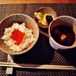 O・mo・ya - 『いくらご飯と赤出汁、ぬか漬けのお新香』~♪(^o^)丿
